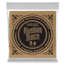 Ernie Ball Aluminum Bronze Acoustic Guitar Single String .034w