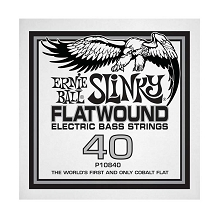 Ernie Ball Cobalt Flatwound Electric Bass Single String - Long Scale .040