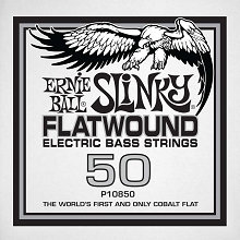 Ernie Ball Cobalt Flatwound Electric Bass Single String - Long Scale .050