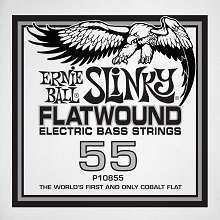 Ernie Ball Cobalt Flatwound Electric Bass Single String - Long Scale .055