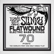 Ernie Ball Cobalt Flatwound Electric Bass Single String - Long Scale .070