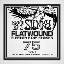 Ernie Ball Cobalt Flatwound Electric Bass Single String - Long Scale .075