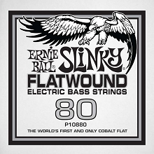 Ernie Ball Cobalt Flatwound Electric Bass Single String - Long Scale .080