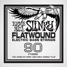 Ernie Ball Cobalt Flatwound Electric Bass Single String - Long Scale .090