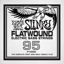 Ernie Ball Cobalt Flatwound Electric Bass Single String - Long Scale .095