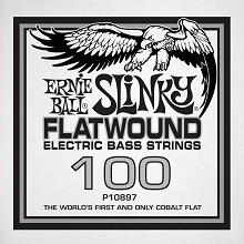 Ernie Ball Cobalt Flatwound Electric Bass Single String - Long Scale .100