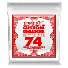 Ernie Ball Nickel Wound Single Electric Guitar String Long Scale .074w