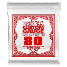 Ernie Ball Nickel Wound Single Electric Guitar String Long Scale .080w