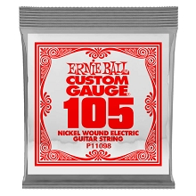 Ernie Ball Nickel Wound Single Electric Guitar String Extra Long Scale .105w