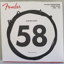 Fender 9120 Black Nylon Tapewound String Set Long Scale - 4-String 58-110 Medium 9120M