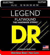DR Legend Flatwound Electric Guitar String Set - 12-52 Medium FL-12