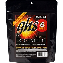 GHS Boomers Electric Guitar String Sets 09-42 Extra-Light GBXL-5 6-Pack