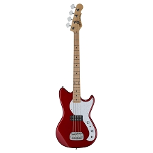 G&L Tribute Fallout Short Scale 4-String Electric Bass Guitar - Candy Apple Red w/ Gig-Bag