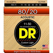 DR Hi-Beam 80/20 Bronze Acoustic Guitar String Set - 11-50 Custom Light 11-50