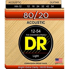 DR Hi-Beam 80/20 Bronze Acoustic Guitar String Set - 12-54 Light HA-12