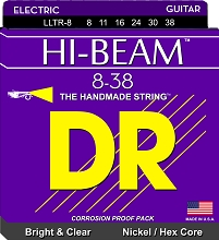 DR Hi-Beam Electric Guitar String Set - 08-38 Light-Light LLTR-8
