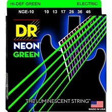 DR Neon Green K3 Coated Electric Guitar String Set - 10-46 Medium NGE-10