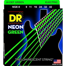 DR Neon Green K3 Coated Electric Guitar String Set - 09-42 Light NGE-9