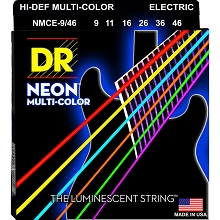 DR Neon Multi-Color Rocksmith Game Colors K3 Coated Electric Guitar String Set - 09-46 Light-Heavy NMCE-9/46
