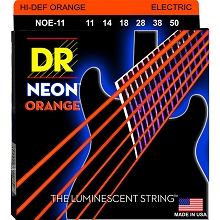 DR Neon Orange K3 Coated Electric Guitar String Set - 11-50 Heavy NOE-11