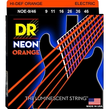 DR Neon Orange K3 Coated Electric Guitar String Set - 09-46 Light-Heavy NOE-9/46