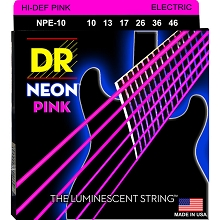 DR Neon Pink K3 Coated Electric Guitar String Set - 10-46 Medium NPE-10
