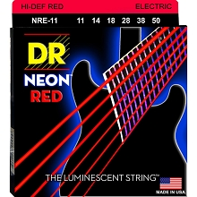 DR Neon Red K3 Coated Electric Guitar String Set - 11-50 Medium NRE-11