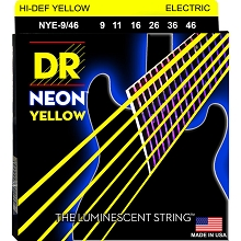 DR Neon Yellow K3 Coated Electric Guitar String Set - 09-46 Light-Heavy NYE-9/46