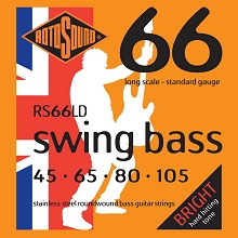 Rotosound Swing Bass 66 Stainless Steel Electric Bass Strings Long Scale Set - 4-String 45-105 RS66LD