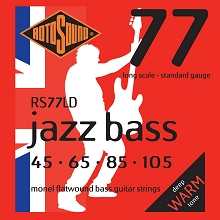 Rotosound Jazz Bass 77 Monel Flatwound Electric Bass Strings Long Scale Set - 4-String 45-105 RS77LD