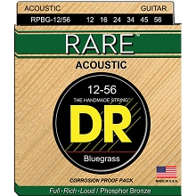 DR RARE Phosphor Bronze Acoustic Guitar String Set - 12-56 Bluegrass RPBG-12/56