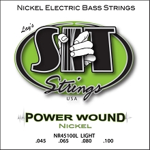 SIT Powerwound Nickel Bass String Set Long Scale - 4-String 45-100 NR45100L