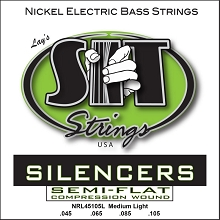 SIT Silencer Pressurewound Bass String Set Long Scale - 4-String 45-105 NRL45105L
