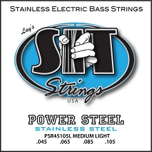 SIT Powersteel Stainless Bass String Set Long Scale - 4-String 45-105 PSR45105L