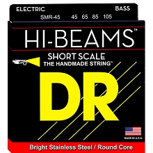 DR Hi-Beam Stainless Steel Electric Bass Strings Short Scale Set - 4-String 45-105 Medium SMR-45