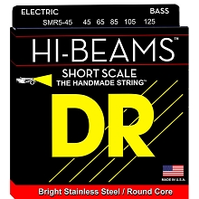 DR Hi-Beam Stainless Steel Electric Bass Strings Short Scale Set - 5-String 45-125 Medium SMR5-45