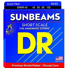 DR Sunbeam Nickel Plated Steel Electric Bass Strings Short Scale Set - 4-String 45-105 Medium SNMR-45