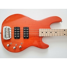 G&L L-2000 Tribute Series Clear Orange 4-String Electric Bass SN-5285