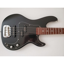 G&L SB-2 Tribute Series Black Frost 4-String Electric Bass SN-5588