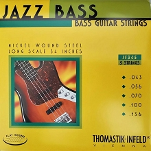 Thomastik-Infeld Jazz Flats Flatwound Bass String Set Long Scale - 5-String 43-136 JF345
