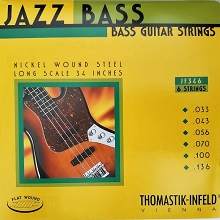 Thomastik-Infeld Jazz Flats Flatwound Bass String Set Long Scale - 6-String 33-136 JF346
