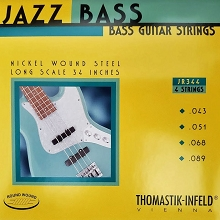 Thomastik-Infeld Jazz Rounds Pure Nickel Bass String Set Long Scale - 4-String 43-089 JR344