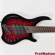 Dingwall AB1 Afterburner 1 Flame Top RedBlackBurst 5-String Bass