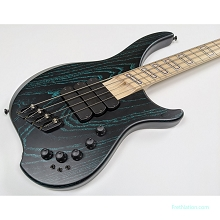 Dingwall ABZ Afterburner Z NAMM 2020 Black w/ Turquoise Ceruse Ghost Inlays Darkglass Toggles - NEO