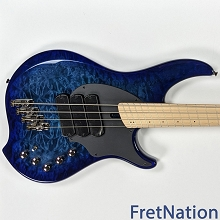 Dingwall Combustion C3 4-String Indigo Burst Quilted Top w/ Gig Bag #08062 7.98 Pounds