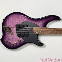 Dingwall Combustion C3 4-String UltraViolet Burst Quilted Top Pau Ferro w/ Gig Bag #06967 7.94 Pounds