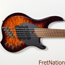 Dingwall Combustion C3 5-String Vintage Burst Pau Ferro SN: 08144 9.88 Pounds