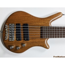 Warwick ProSeries Thumb Bolt-On 6-String Ovangkol Natural Transparent Stain SN-8398-20
