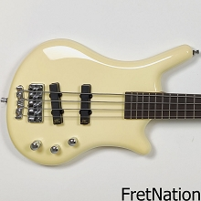 Warwick ProSeries Thumb Bolt-On 4-String Ovangkol Solid Chreme White High Polish SN-7395-19