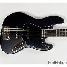 G&L USA JB-5 Jet Black Frost 5-String Electric Bass Guitar - CLF2007238